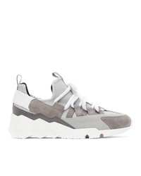 Pierre Hardy Grey Suede Trek Comet Low Top Sneakers