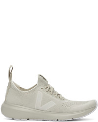 Rick Owens Grey Veja Edition Runner Style 2 V Sneakers