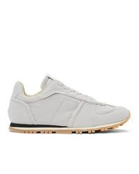 Maison Margiela Off White Canvas Runner Sneakers