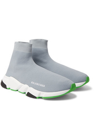 Balenciaga Speed Sock Stretch Knit Slip On Sneakers
