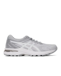 Asics White And Grey Gt 2000 8 Sneakers