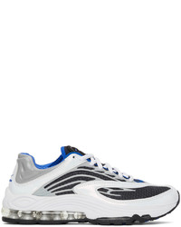 Nike White Blue Air Tuned Max Sneakers