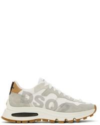 DSQUARED2 White Grey Run Dsq2 Sneakers