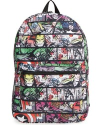 Marvel Boys Quick Turn Comic Backpack Black