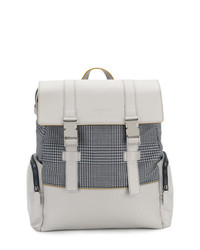 Canali Check Panelled Backpack