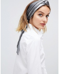 ASOS DESIGN Metallic Twist Front Headscarf