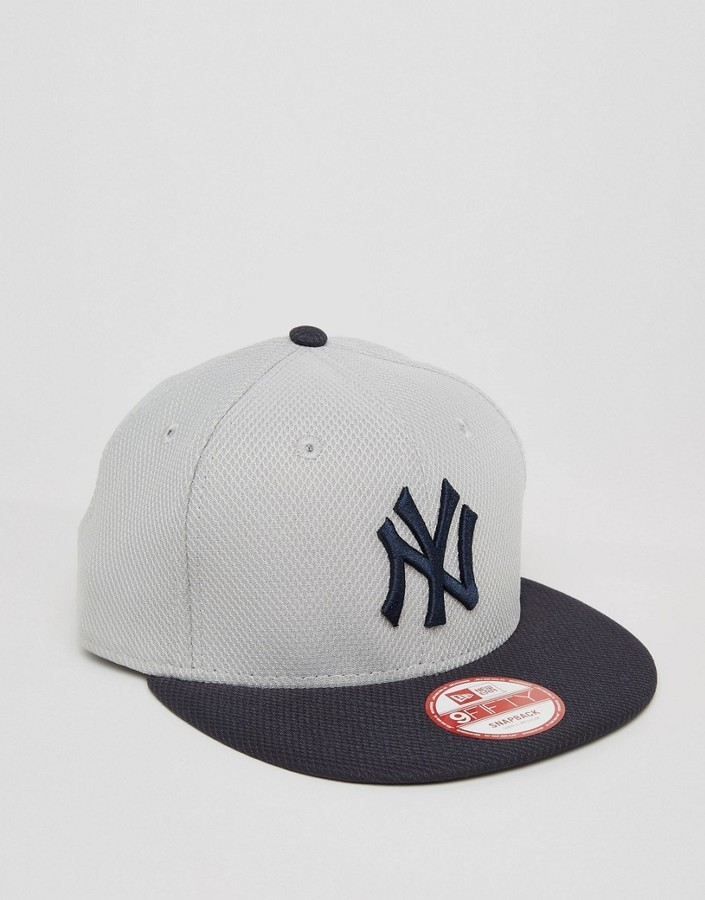 966073c27 ... Grey Baseball Caps New Era 9 Fifty Snapback Cap Diamond Era Ny Yankees  ...