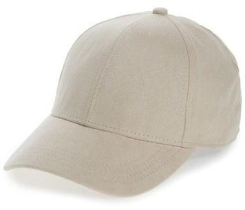 ... Grey Baseball Caps Topman Faux Suede Baseball Cap Beige ... a3e9e6a00f27