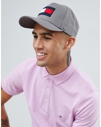 Tommy Hilfiger Flag Baseball Cap In Grey