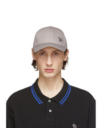 Ps By Paul Smith Grey Zebra Cap