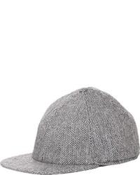 Crown Cap Herringbone Baseball Cap Light Grey Size Xl