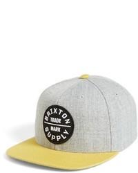 Oath iii snapback baseball cap grey medium 3943445