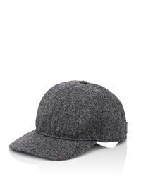 Borsalino Tweed Baseball Cap Grey