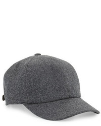 Brunello Cucinelli Wool Baseball Cap Gray