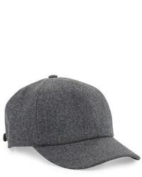Brunello Cucinelli Wool Baseball Cap Gray