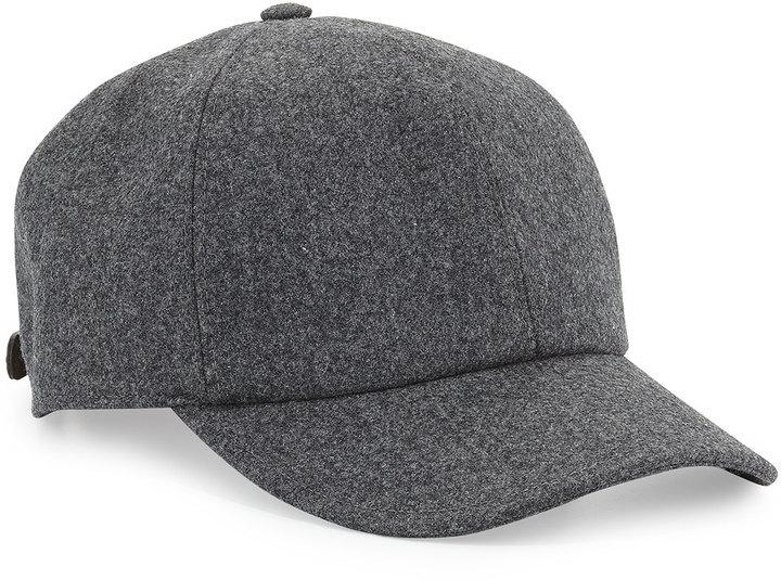 eab96b22998d5 ... Brunello Cucinelli Wool Baseball Cap Gray ...