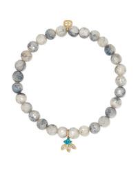 Sydney Evan 14 Karat Gold Multi Stone Bracelet