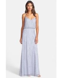 Beaded chiffon blouson gown medium 228513