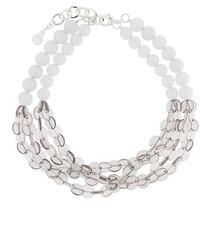 Armani Collezioni Contrast Beaded Row Necklace