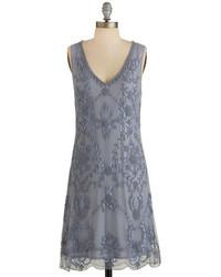 dda17315b464 Grey Beaded Shift Dresses for Women | Women's Fashion | Lookastic.com