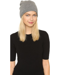 1717 Olive Cashmere Rolled Cuff Slouch Beanie Hat