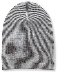 Anna Ava Knitted Ribbed Slouchy Beanie