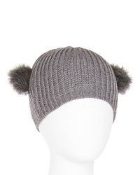 Asstd Private Brand Faux Fur Eared Beanie Hat