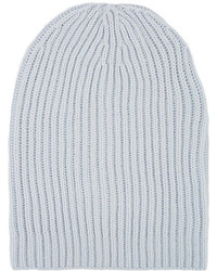 Barneys New York English Rib Knit Beanie Grey