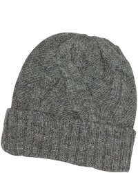 Paul Smith Cable Knit Wool Alpaca Beanie Hat