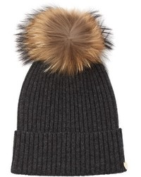 Yves Salomon Cashmere And Wool Blend Beanie Hat