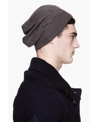 Maison Martin Margiela Charcoal Grey Cashmere Knit Beanie