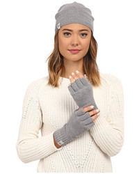 UGG Classic Sequin Trimmed Beanie And Tech Fingerless Set