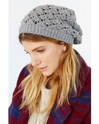 BDG Crochet Stitch Slouchy Beanie