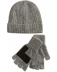 Ryan Seacrest Distinction Donegal Beanie Gloves Set