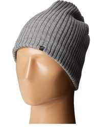 Plush Fleece Lined Ribbed Beanie Beanies