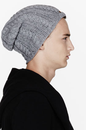 ... Nudie Jeans Grey Cableknit Miklsson Beanie ... 5f1d10d34354