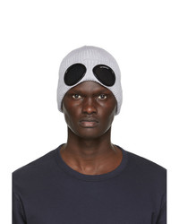 C.P. Company Grey Cotton Goggle Beanie
