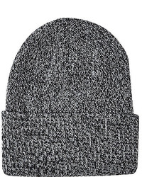 River Island Grey Deep Cuff Twist Knit Beanie