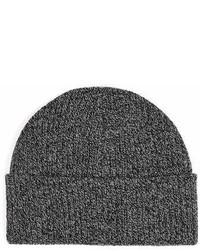 Topman Grey Gray Salt And Pepper Waffle Brett Beanie