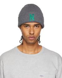 Noah Grey Green Team Beanie