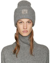 Acne Studios Grey Wool Pansy Beanie