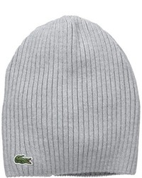 Lacoste Green Croc Ribbed Wool Knit Beanie