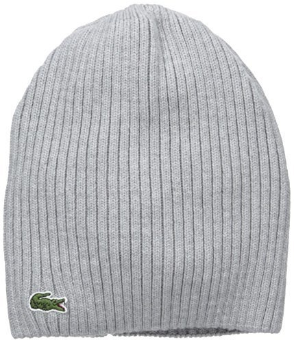 ebf3882ef0b ... Lacoste Green Croc Ribbed Wool Knit Beanie