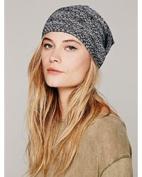 Free People Marled Lightweight Slouchy Beanie