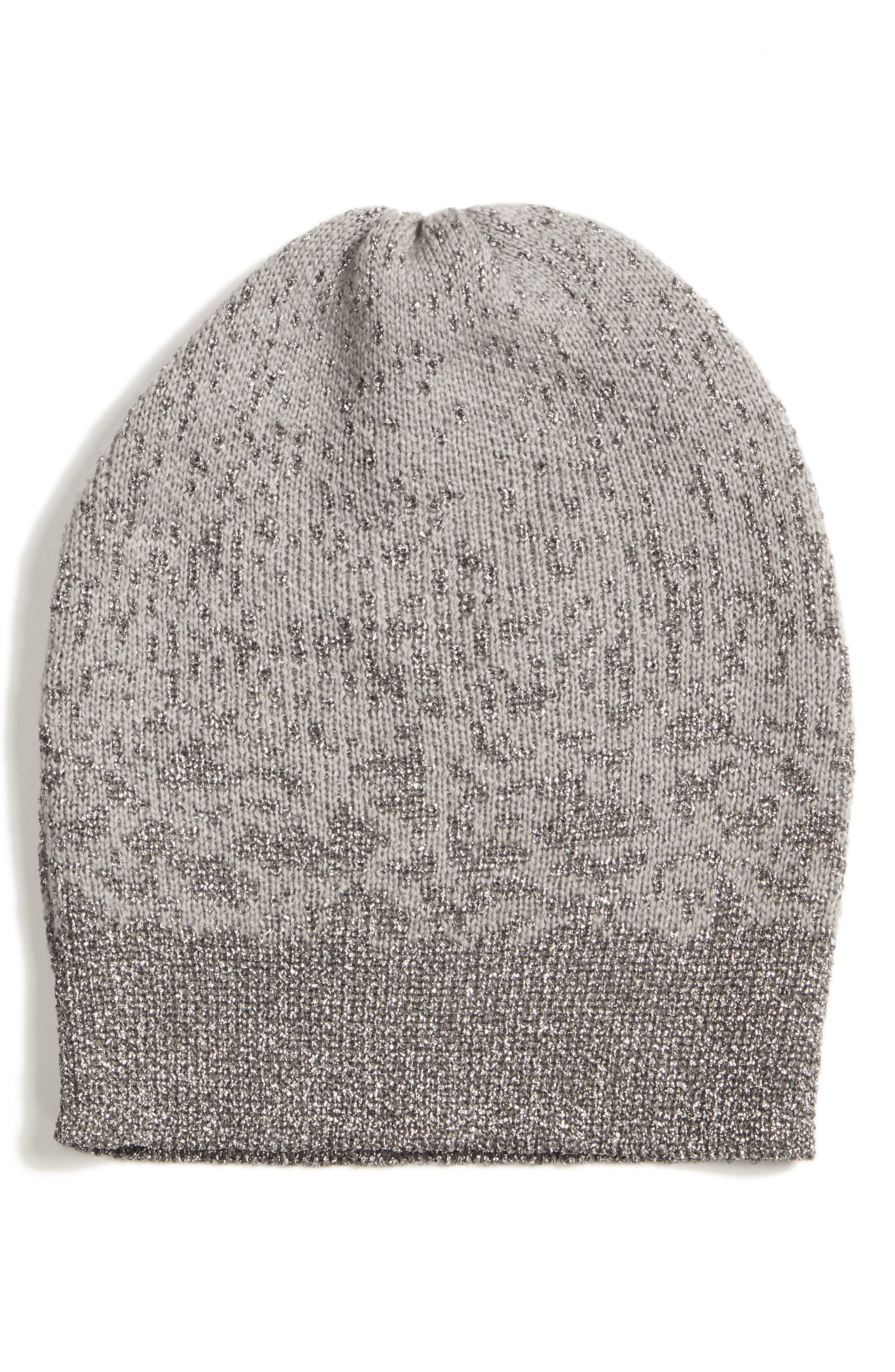 Eileen Fisher Metallic Beanie Hat 6d298a6c0a7