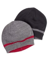 Nautica Hat Ribbed Striped Beanie