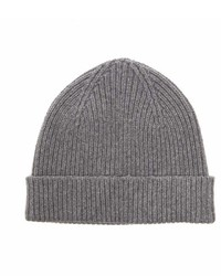 Paul Smith Ribbed Knit Cashmere Blend Beanie Hat