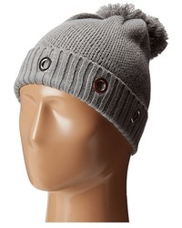 Steve Madden Solid Grommet Cuff Hat Caps