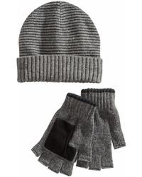 Ryan Seacrest Distinction Striped Beanie Gloves Set