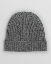 Bloomingdale's The Store At Ribbed Knit Cuffed Beanie